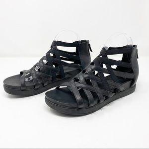 Eileen Fisher Black Gladiator Cage Sandals Sz 11